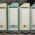 事務所のファイルボックス