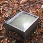 不法投棄されたテレビ